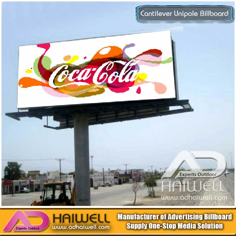 Custom Design Cantilever Advertising Unipole Billboard in China Suppliers