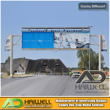 Highway Gantry Outdoor Advertising Display Bilboard Structure