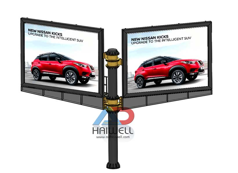 Meza LED Display Rotatable Structure