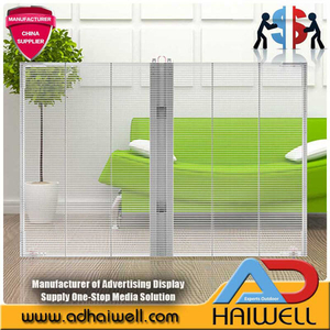 Building Glass Curtain Wall Transparent LED Display