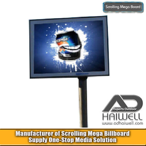 Unipole Digital Scrolling LED Display Billboard
