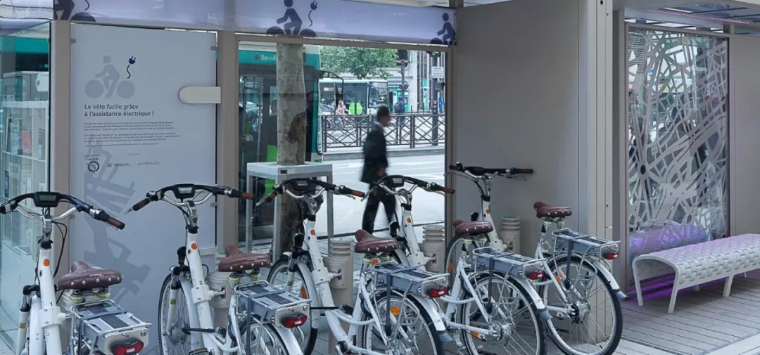 bicycle charging bus stations