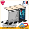 City Street Bus Stop Shelter with Mupi Side Advertising Light Box