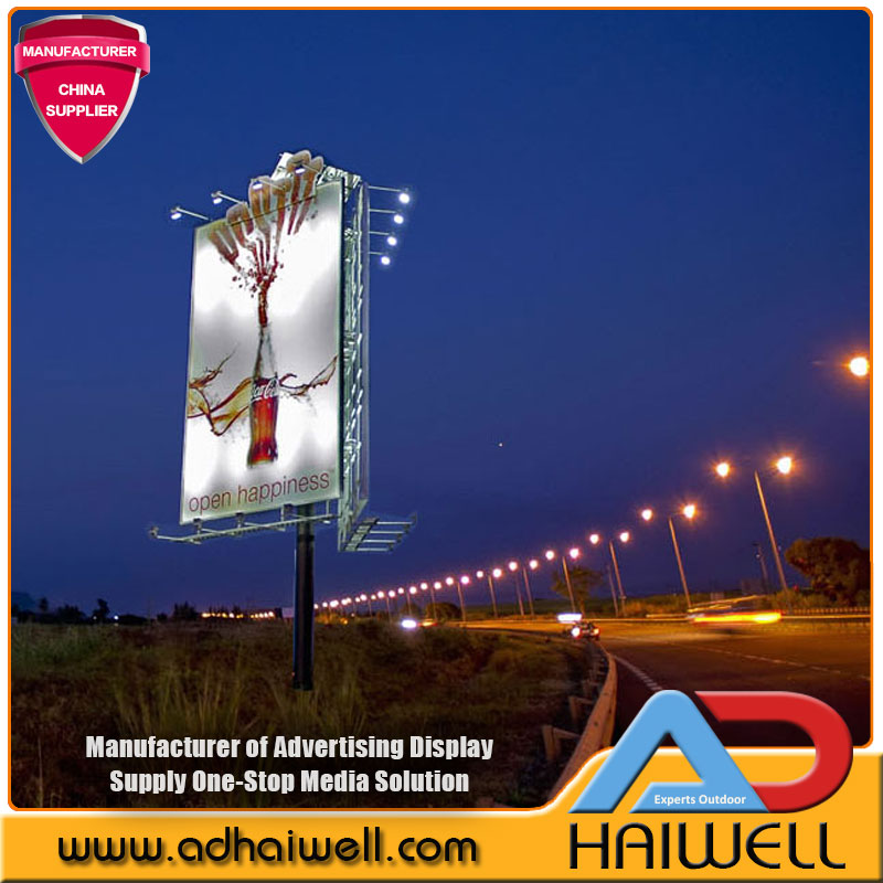 Solar Powered Led Light Outdoor Advertising Billboard