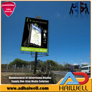 Outdoor Lighting Solar Powered Display Billboard Structure