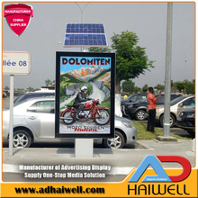 Solar Powered Energy Mupi Advertising Light Box Signs