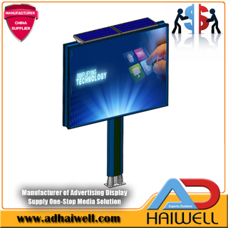 Solar LED Lighting Backlit Advertising Billboard
