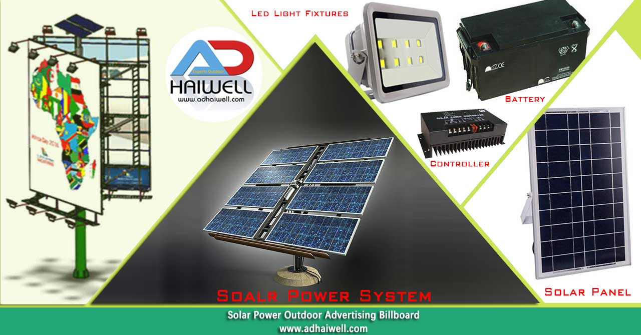 Solar-power-system-advertising-billboard-display