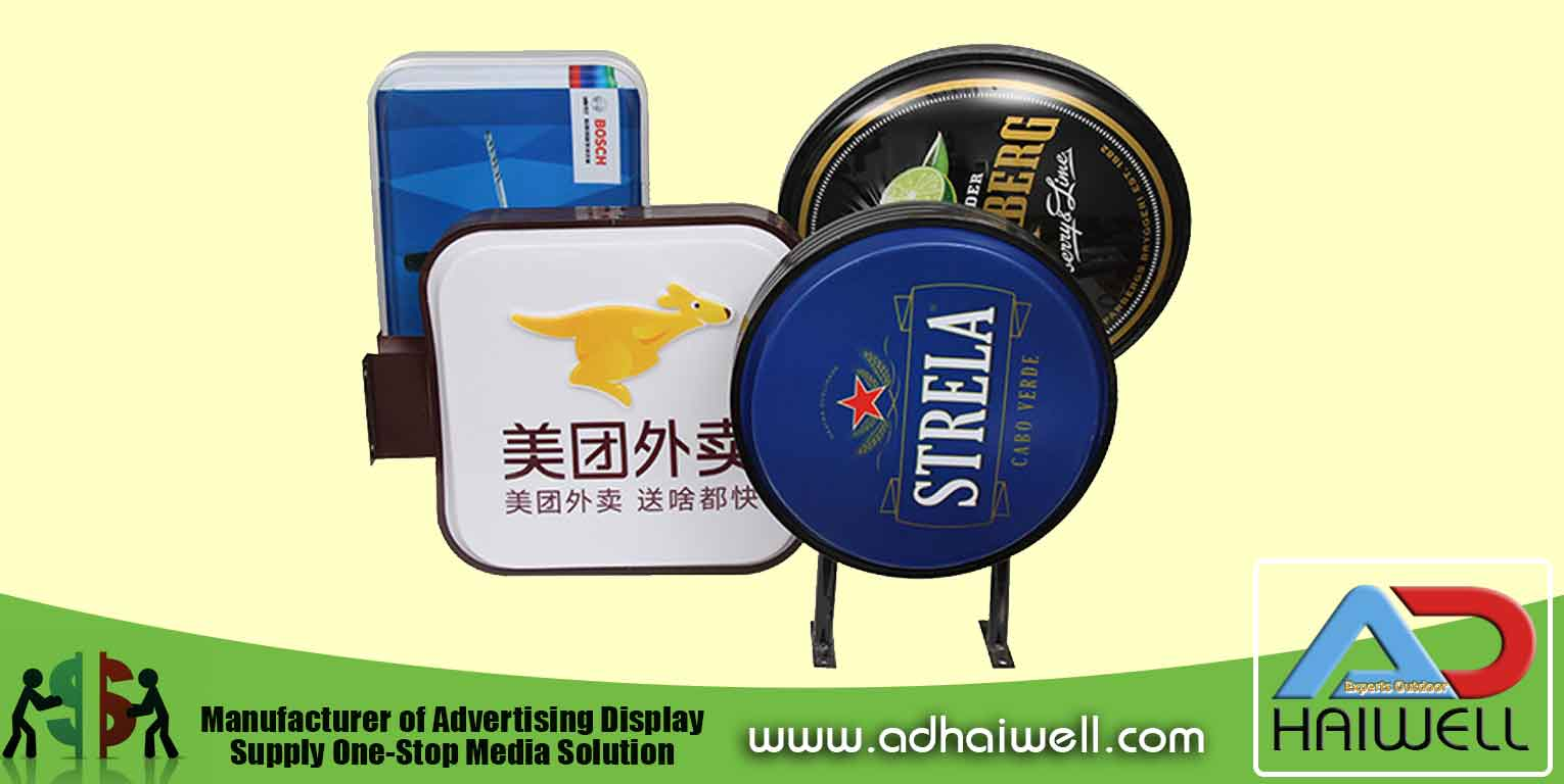 3D Vacuum Formed Embossing Acrylic Light Box Round Shape Signs