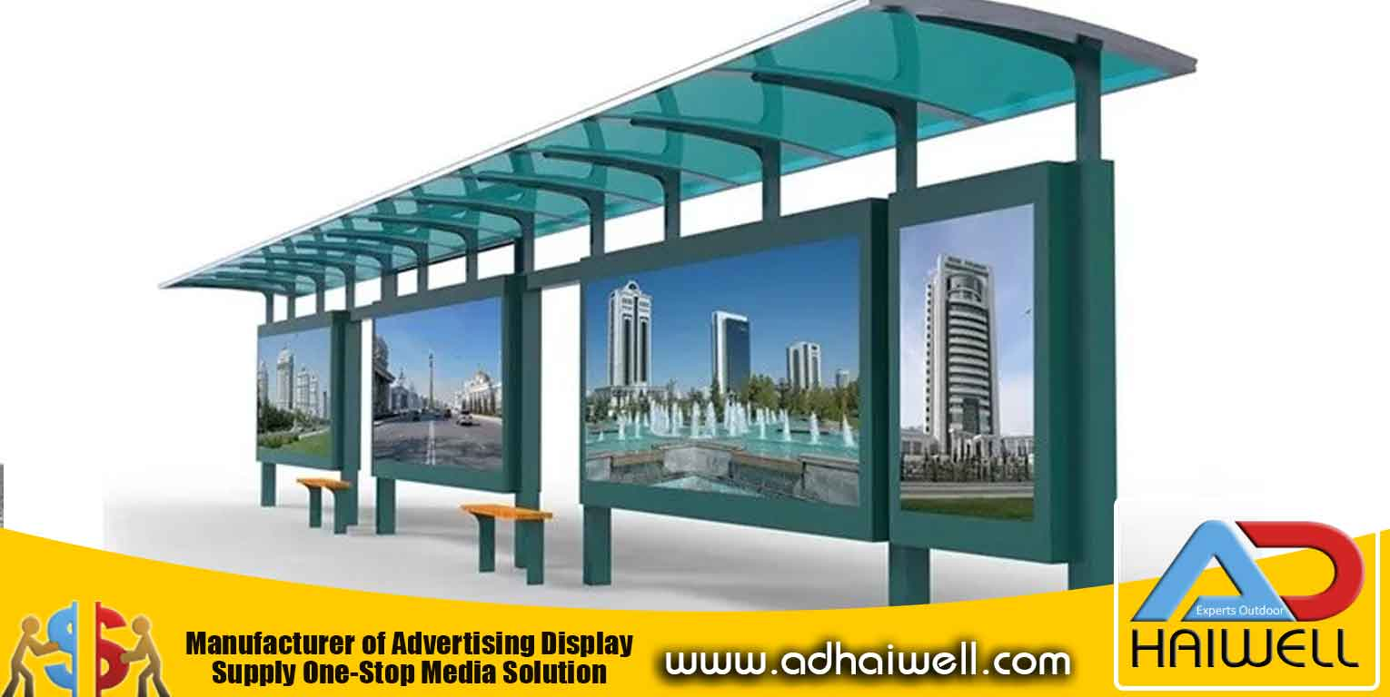 Blue Bus Shelter
